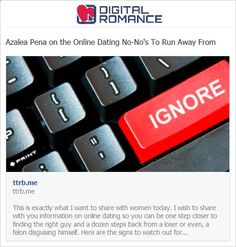 online dating no nos