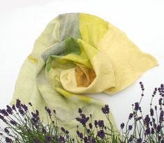 Felted Natural Silk and Wool baby blanket Summer  quilt by Rasae, $97.00