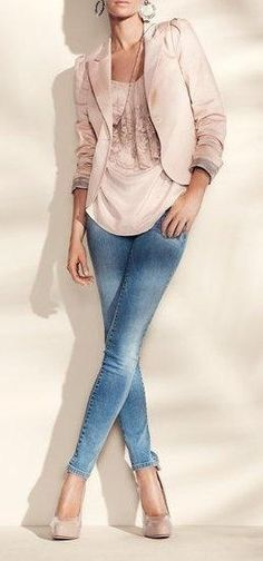 denim and blush