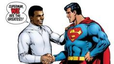 Image copyright                  Neal Adams/DC Comics  The year is 1978 and Muhammad Ali is about to take on the most powerful man on Earth. In the audience is a stellar cast – everyone from The Beatles to Pele to Andy Warhol to Batman. Muhammad Ali is in the boxing ring with Superman.  The iconic cover of Superman vs Muhammad Ali has become one of the most shared images on social media since the death of the boxing legend, but the tale of how it came