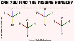 Missing Number Maths Brain Teaser with answer Math Lesson Plans, Math Lessons, Brain Science, Science Experiments, Teaching Math, Maths, Brain Teasers With Answers, Number Puzzles, Math Questions
