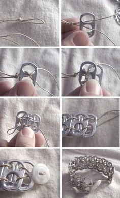 DIY Pop Tab Bracelet, can make a ton of other things with the tabs too.