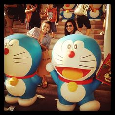 Chill day with @giaparungao and #doraemon  - @steffimedalla- #webstagram