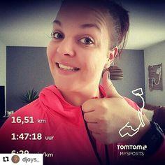 #Repost @djoys_ with @repostapp  Latergram De afgelopen week onzeker over mijn eigen kunnen. Ga ik die halve marathon wel redden? Vandaag een lange duurloop gelopen en ik voelde mijzelf fantastisch ondanks mijn verkoudheid. Dik tevreden over mijn tempo. Over anderhalve week loop ik de #berenloop en ik ga er van genieten de looptijd is bijzaak! Next week I will run my first half marathon. The last few weeks I doubted myself i said to myself I can't do it. Today I ran 16.5km and I felt great…