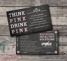 Plexus Business Card  Chalkboard by TheGraphicsNanny on Etsy