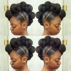 Natural Mohawk Updo Hairstyle - 50 Updo Hairstyles for Black Women Ranging from Elegant to Eccentric - The Trending Hairstyle - Page 10 Cornrows, Cornrow Updo Hairstyles, Mohawk Updo, Updos, Natural Mohawk, Natural Hair Updo, Be Natural, Natural Hair Styles, Elegant Natural Hairstyles Black