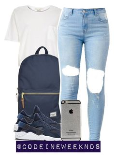 """12/29/15"" by codeineweeknds ❤ liked on Polyvore featuring River Island, Herschel Supply Co. and NIKE"