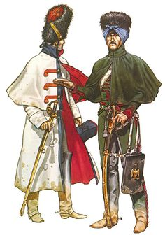Troopers, Grenadiers à Cheval, Imperial Guard, campaign dress, 1812