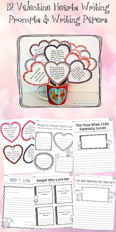 Valentine's Day packet that includes craftivities, worksheets, activities for math and literacy.