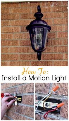 A how to on installing a motion light outside. www.chatfieldcourt.com