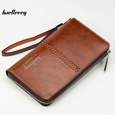 New Multi-Function Business Vintage Long Zipper Men's Wallets