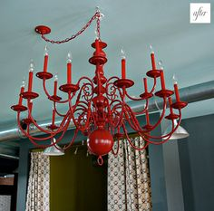 I'm going to spray paint my dining room chandelier this color red...what could go wrong?