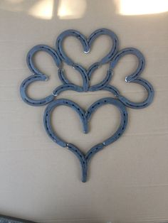 Custom Orders - Large Horse Shoe Hearts with baby hearts