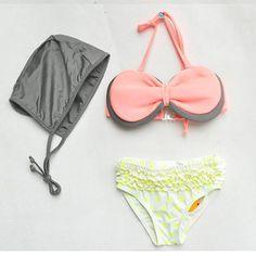 7e27883f829 New Style Baby Girl Swimwear Bow Bikini Set Swimming Kids Bathing Suit  Summer Brand Clothing