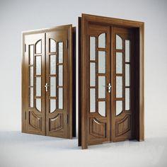 3d models: Doors - Classic door Wooden Front Door Design, Double Door Design, Wood Front Doors, Wooden Doors, Grill Door Design, Room Door Design, Door Design Interior, Door Design Catalogue, Door Design Images