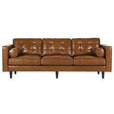 """Darrin 89"""" Leather Sofa - jcpenney"""