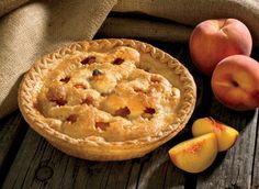 Honey caramel peach pie, recipe from Affluent magazine site.