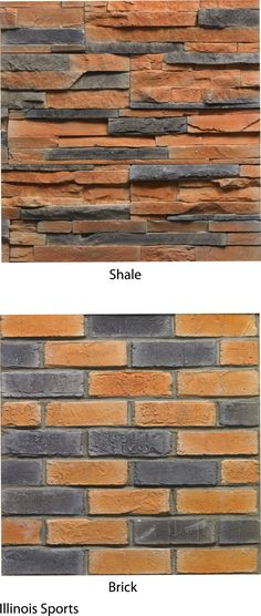 Illini Brick Facade from Castlestone.  For the basement bar? Love the shale. #thebasementbarchicago #basementbardiy Basement Bar Plans, Basement Bar Designs, Resin Patio Furniture, Room Wanted, Small Basements, Brick Facade, Shower Curtain Rods, New Homes, Bar Ideas