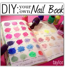 """""""DIY: Nail Book"""" by the-polyvore-tippersx on Polyvore, would also work well to catalogue a makeup collection that has grown out of control"""