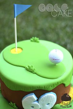 Golf spieler Torte