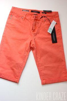 Orange shorts. Stitch Fix spring/summer 2016