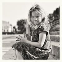 girl in polka-dot dress by Marjolein M.