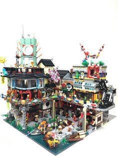 Ninjago City extension - New Ideas Lego City, Lego Ninjago City, Legos, Minifigura Lego, Lego Batman, Lego Marvel, Lego Friends, Casa Lego, Lego Minifigure Display