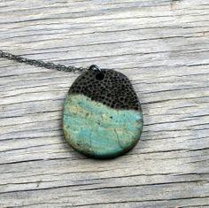 Raku Necklace  Raku Jewelry  Raku Pendant by FiredEarthStudio, $25.00