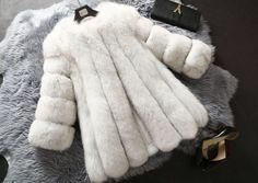 7ef5d7448a Natural White Women s Winter Warm Gilet Outwear Girls Slim Faux Fur Jacket  Coat
