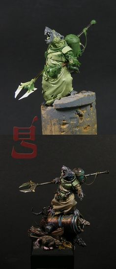The Internet's largest gallery of painted miniatures, with a large repository of how-to articles on miniature painting Warhammer Skaven, Warhammer Paint, Warhammer Models, Warhammer Fantasy, Warhammer Aos, Fantasy Paintings, Mini Paintings, Warhammer Tabletop, Figurine Warhammer