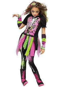 Girls Neon Zombie Costume - Child Halloween Costumes at Escapade™ UK - Escapade…