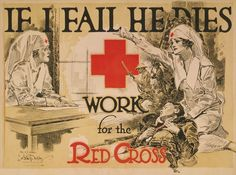 Red Cross Nurse Recruiting Poster 1918 18x24 24x36 NEW! #Vintage