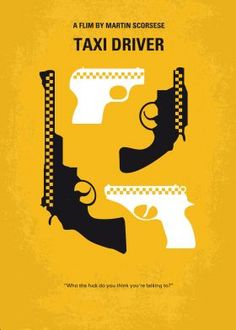 No087 My Taxi Driver minimal movie poster  A mentally unstable Vietnam war veteran works as a night-time taxi driver in New York City where the perceived decadence and sleaze feeds his urge for violent action, attempting to save a preadolescent prostitute in the process.  Director: Martin Scorsese Stars: Robert De Niro, Jodie Foster, Cybill Shepherd   Taxi, Driver, Scorsese, De Niro, Travis, Bickle, Marine,Vietnam, veteran, New York City,