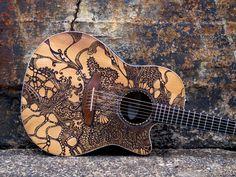Acoustic Guitar Tattoo For Men Guitar Diy, Guitar Case, Guitar Shelf, Acoustic Guitar Lessons, Acoustic Guitars, Guitar Tattoo, Guitar Logo, Cheap Guitars, Beautiful Guitars