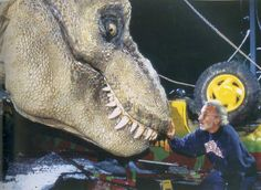 In case you missed it, the crew over at the Stan Winston's School added this amazing T-Rex rehearsal footage from the set of Jurassic Park.