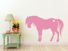 3 foot tall Pony horse with heart vinyl Wall DECAL by EyvalDecal, $40.00