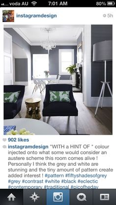 @Melanie Pearce found a photo of the rest of the room that you showed me on Instagram. Looks great with the black furniture!