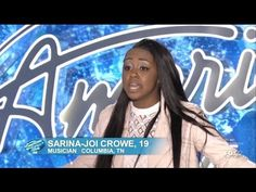 Sarina Joi Crowe - Audition - American Idol 2015 ; she better singggg!!! :) that riff at the end is crazyy!! <3