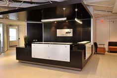 Reception Design. Meyers Norris Penny. 13,000 sq.ft. Designed by SDI Interior Design .