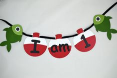 Fishing I am 1 High Chair Banner - Gone Fishing Theme First Birthday - 1st Birthday - Fish and Bobber Birthday Banner Decoration - Laser Cut  ***This item is READY TO SHIP and ships in 1-2 business days from purchase***  This fishing I am 1 high chair banner is perfect for your little ones gone fishing theme birthday party. Each banner is laser cut from heavy duty card stock. Each fishing bobber is about 4.5 and the fish measure 4 wide by 5.5 long. The banner is strung together with black…