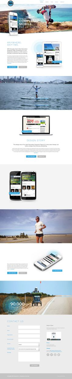 Web Inspiration 2.0 - EverydayHero - love the length of this lading page, and the pictures used in it