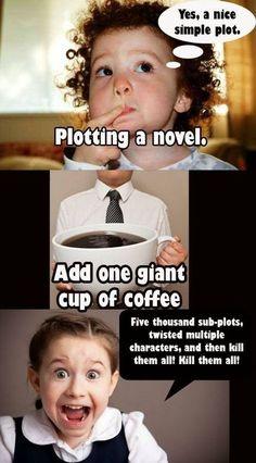 plotting a novel + coffee