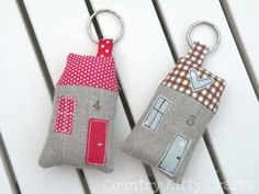 fabric houses. Have pinned so many of these. but they are so cute.