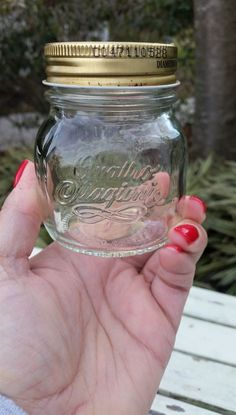 Next time you're at Michaels, grab a cheap mason jar and make this gift for someone special!