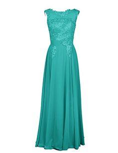 eeea9fa80b6 Dressystar Damen Chiffon Tüll Lang Formell Abendkleid Ballkleid mit Spitze   Amazon.de  Bekleidung