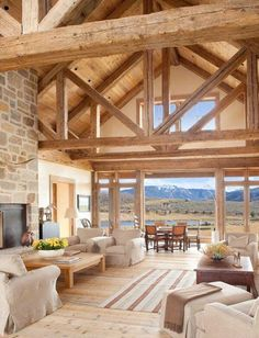 A breathtaking rural retreat by the lake in the Roaring Fork Valley - best house decoration - A stunning rural lake retreat in the Roaring Fork Valley - Cabin Homes, Log Homes, Rural Retreats, Architecture, Great Rooms, My Dream Home, Future House, Beautiful Homes, House Plans
