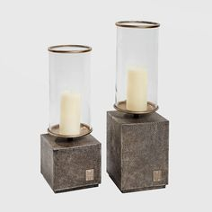 AH Signature Candle Holders (pair) - Adriana Hoyos Furnishings