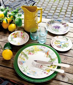 "Zastawa stołowa - Faïencerie de GIEN - ""Collection Provence"""