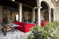 breakfast terrace at Downtown Boutique Hotel in Mexico City