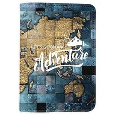 Let's Go On An Adventure World Map Leather Passport Cover Vintage... ❤ liked on Polyvore featuring men's fashion, men's accessories, men's tech accessories, mens leather accessories, vintage mens accessories and mens travel accessories